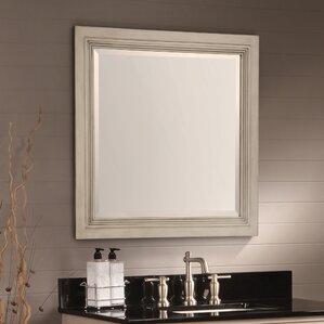 Bathroom Mirrors Under $100 distressed finish vanity mirrors you'll love | wayfair