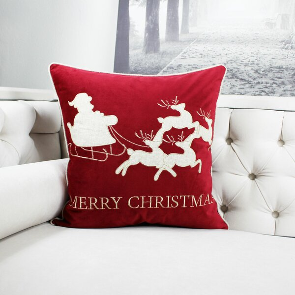 Eades Embroidery Indoor/Outdoor Throw Pillow by The Holiday Aisle