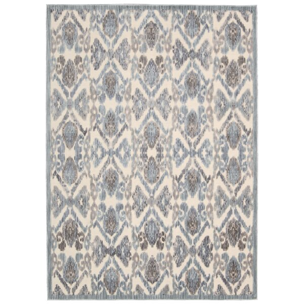 Ouellette Ivory/Seafoam Area Rug by One Allium Way