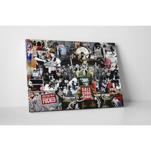 Collage by Banksy Graphic Art on Wrapped Canvas by Pingo World