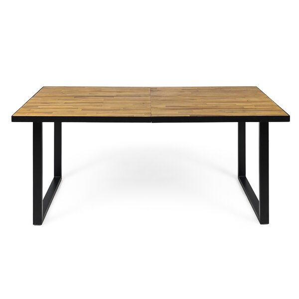 Tunis Wood Dining Table by 17 Stories