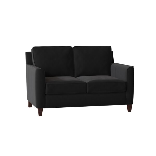 Yorba Leather Loveseat By Bradington-Young