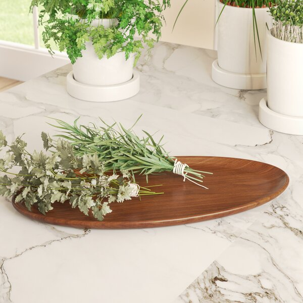 Lynne Teak Oval Platter by Zipcode Design