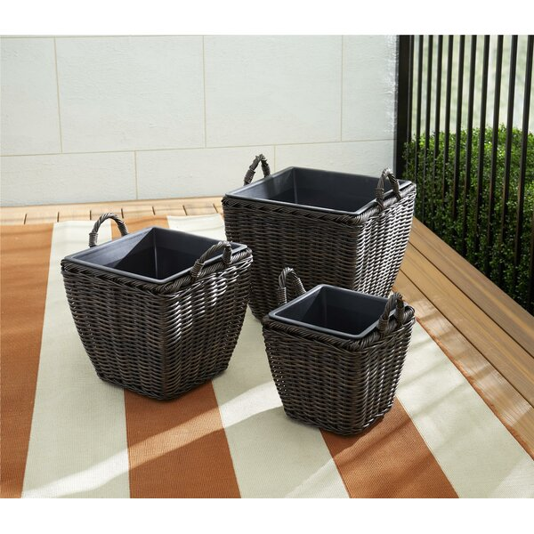 Brook 3-Piece Resin Pot Planter Set by Charlton Home