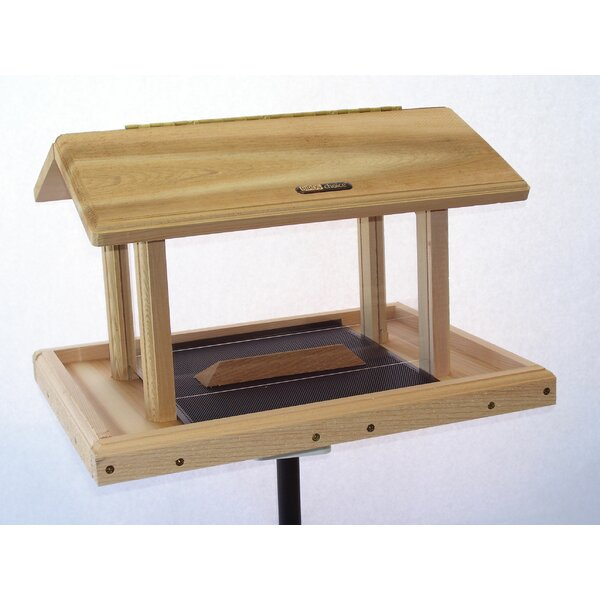 11 Quart 4-Sided Cedar Tray Bird Feeder by Birds C