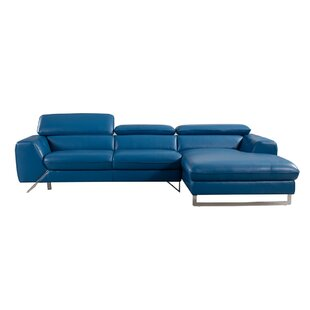 Conduit Avenue Leather Sectional Orren Ellis