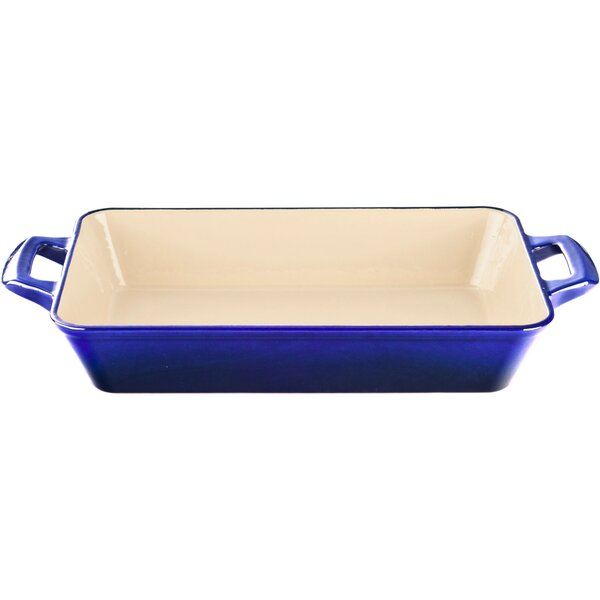 17.7 Large Deep Cast Iron Roasting Pan by La Cuisine