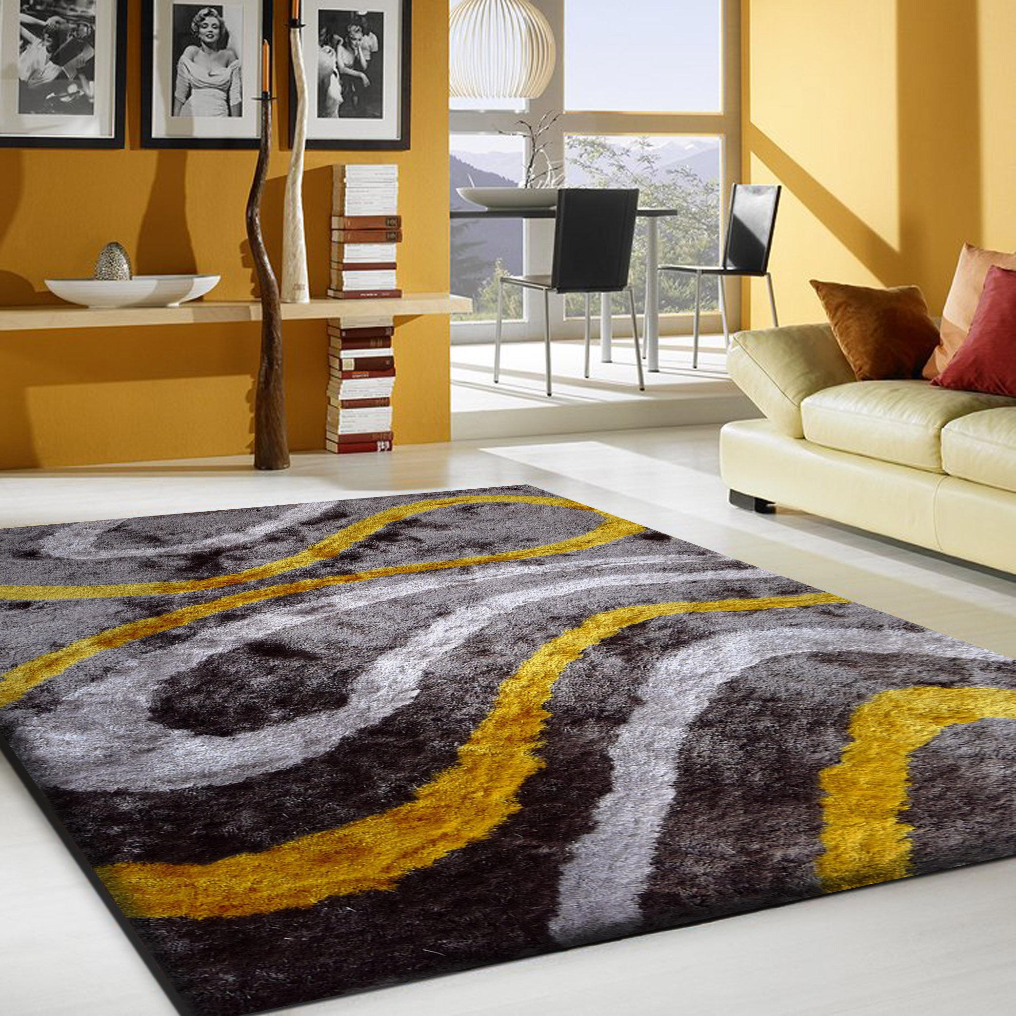 Ebern Designs Tolya Hand Tufted Gray Area Rug Wayfair