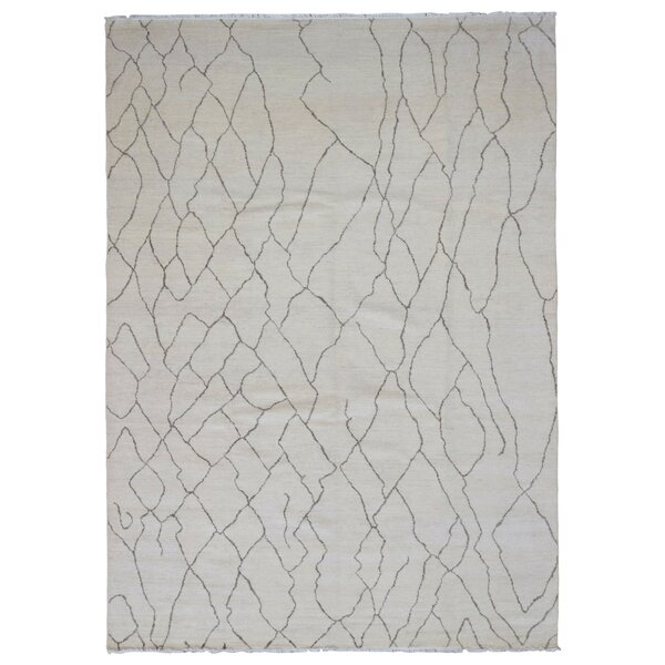 One-of-a-Kind Cottrell Hand-Woven Wool Gray Area Rug by Isabelline
