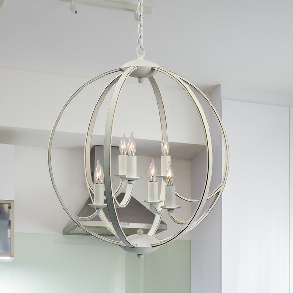 Villeroy 6-Light Candle Style Globe Chandelier By One Allium Way