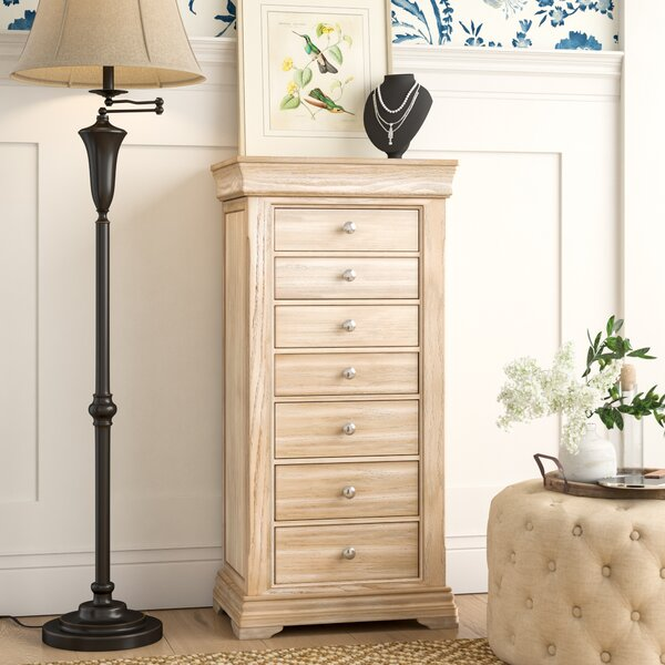 Galiena Free Standing Jewelry Armoire with Mirror by Birch Lane™ Heritage