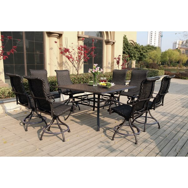 Kentland 9 Piece Bar Height Dining Set by Darby Home Co