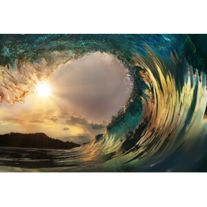 'Through the Wave' Photographic Print on Canvas by Ebern Designs