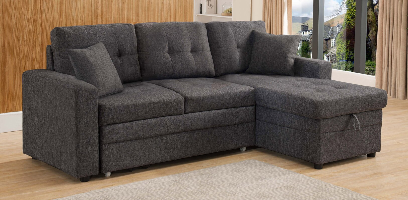 Latitude Run Reider Sleeper Sectional Amp Reviews Wayfair