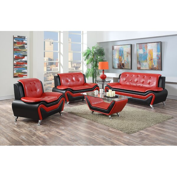Elzada 3 Piece Living Room Set by Latitude Run