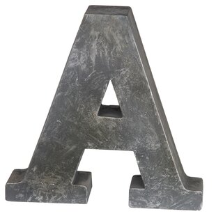 Galvanized Metal Initials Galvanized Metal Letters  Wayfair