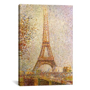Eiffel Tower by Georges Seurat Painting Print on Canvas by iCanvas
