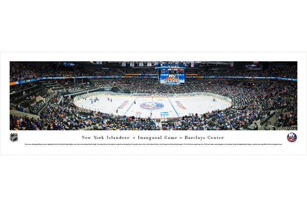 NHL New York Islanders - Center Ice by James Blakeway Photographic Print by Blakeway Worldwide Panoramas, Inc