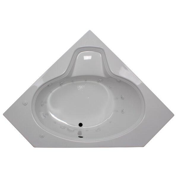 60 x 60 Corner Oval Salon Spa Air/Whirlpool Tub by American Acrylic
