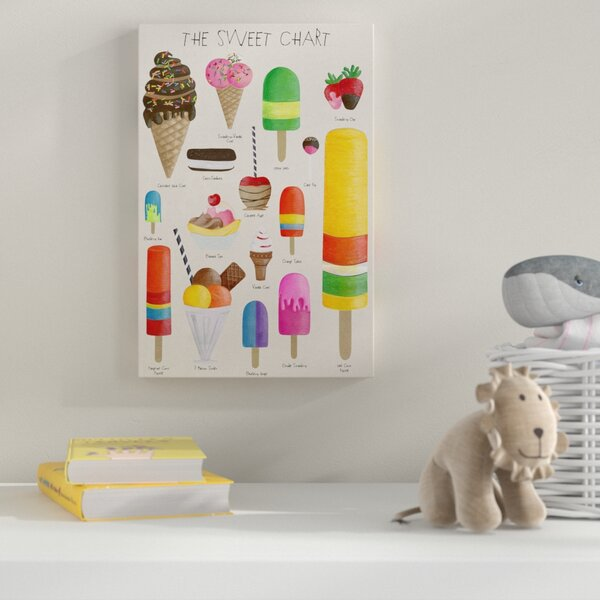 The Sweet Chart Graphic Art on Wrapped Canvas by Zoomie Kids