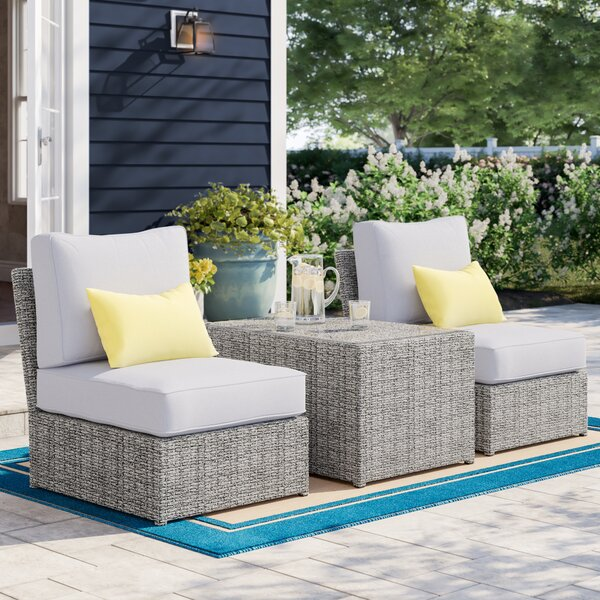 Almyra 3 Piece Rattan Seating Group with Cushions by Sol 72 Outdoor
