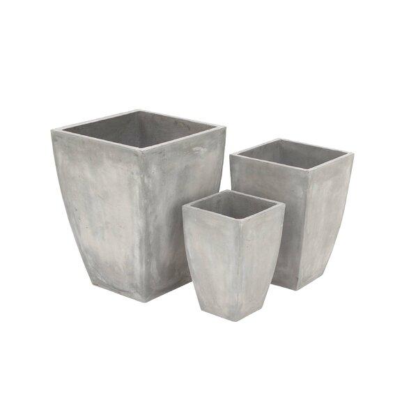 3-Piece Fiberclay Pot Planter Set by Cole & Grey