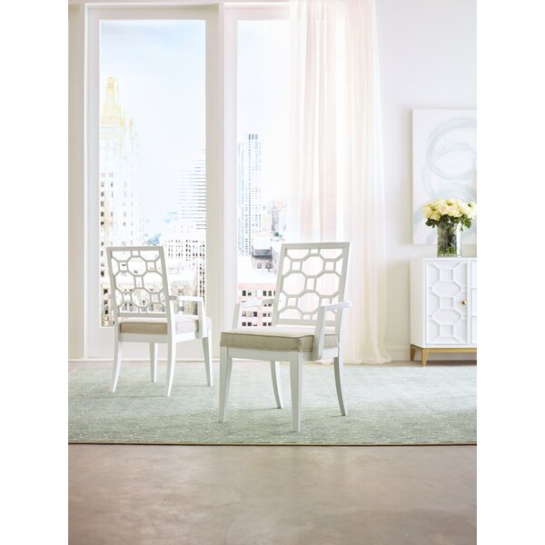 Chelsea Slat Back Arm Chair in White (Set of 2) by Rachael Ray Home Rachael Ray Home