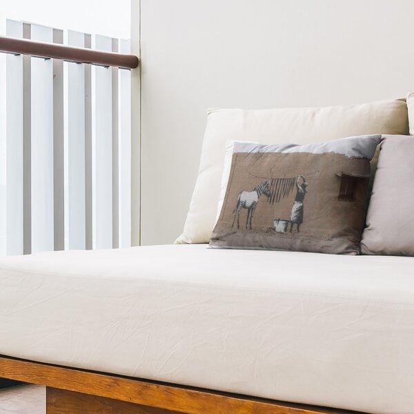 Washing Zebra Stripes Indoor / Outdoor 14 Lumbar Pillow