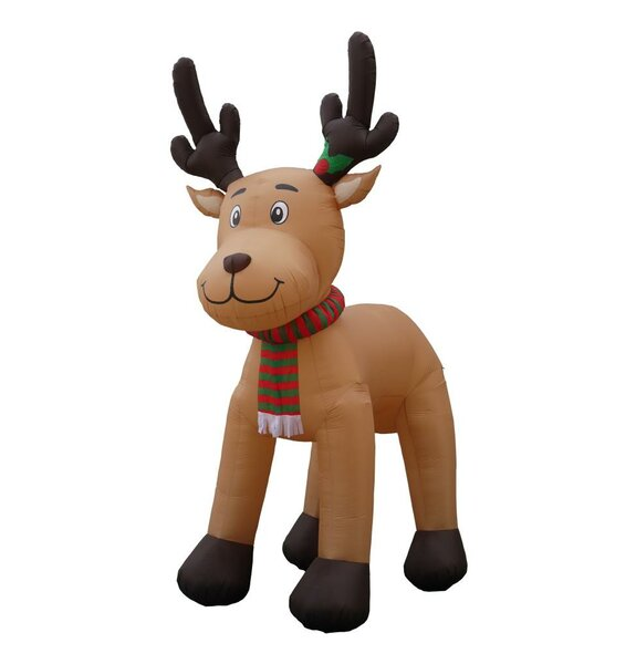 15 ft. Inflatable Reindeer Christmas Decoration by Three Posts