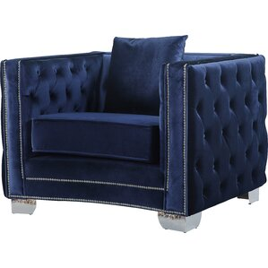 Creekside Velvet Club Chair