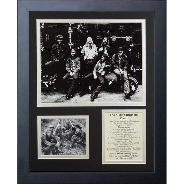 The Allman Brothers Band Framed Memorabilia by Legends Never Die