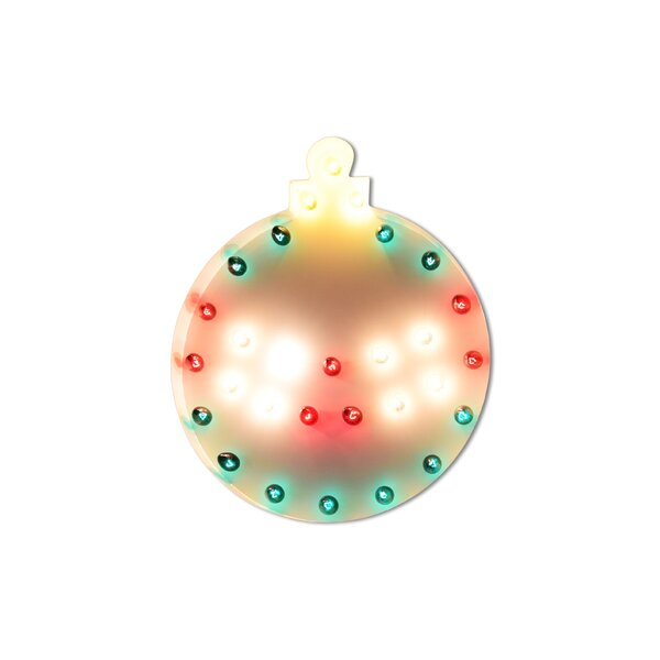 Christmas Ornament Holiday Steel Marquee Light by The Holiday Aisle
