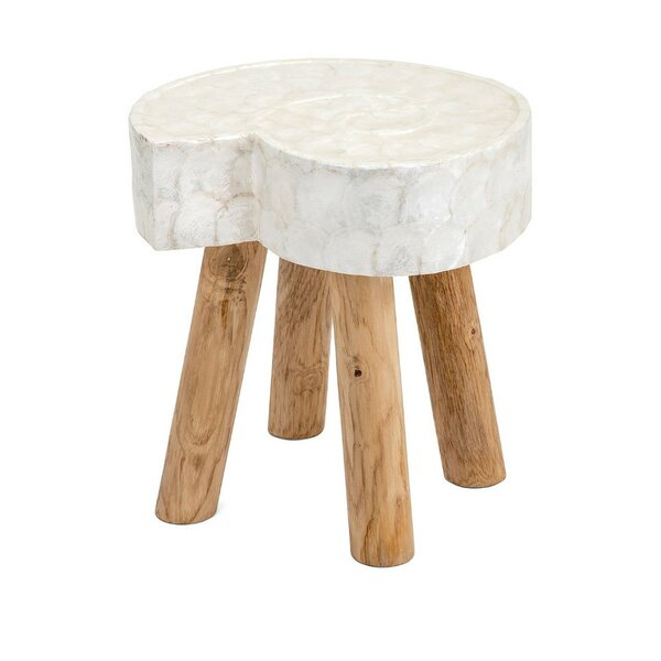 Gordon Shell Accent Stool by Union Rustic