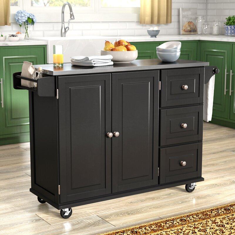 Kitchen Island Furniture Piece: Andover Mills Kuhnhenn Kitchen Island With Stainless Steel