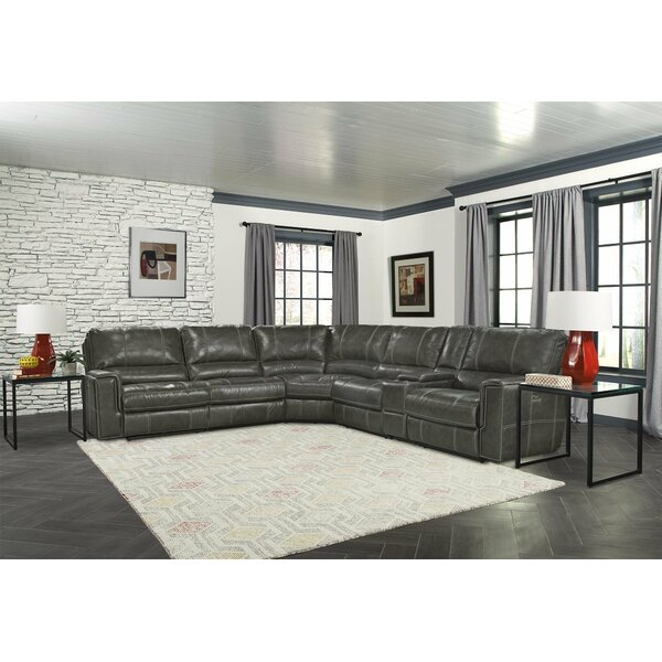 Calder 131.5-inch Symmetrical Reclining Sectional (Set Of 6) By Red Barrel Studio
