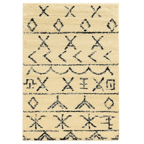 Westland Ivory/Black Area Rug by Threadbind