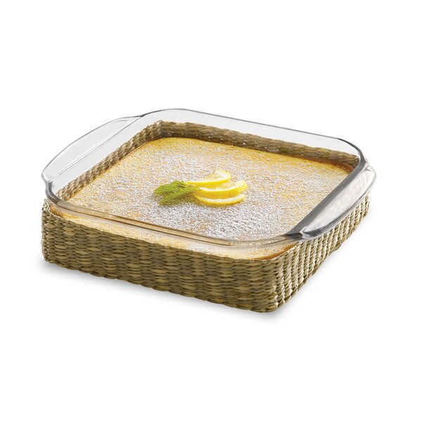 Basics Rectangle Glass Bake Dish With Basket (Set of 2) by Libbey