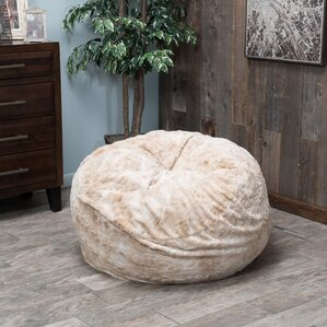 Beige Bean Bag Chair by Loon Peak