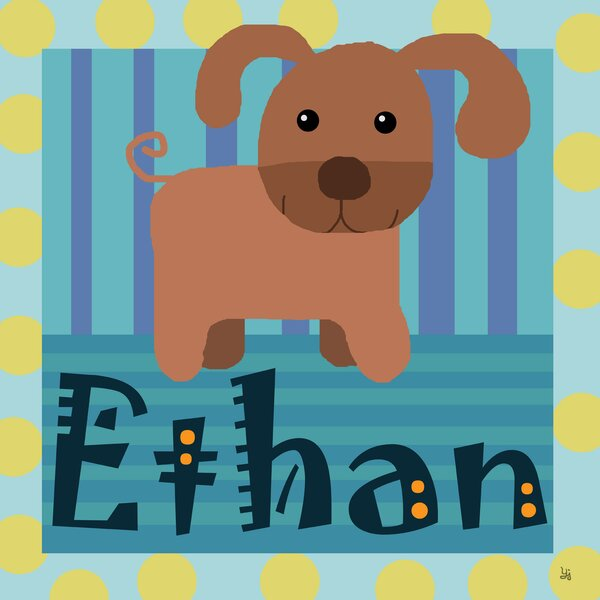 Puppy Personalized Canvas Art by Green Leaf Art