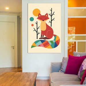 Rainbow Fox Canvas Art by Viv + Rae