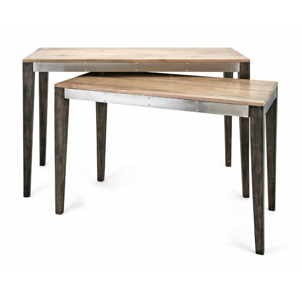 Joey Rectangular Mango Wood 2 Piece Console Table Set by 17 Stories