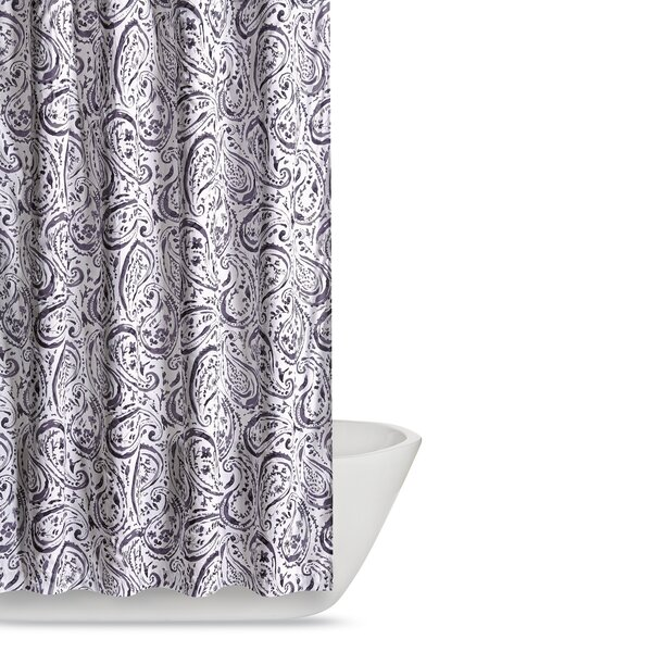 Newburgh Paisley Watercolor Shower Curtain by Andover Mills
