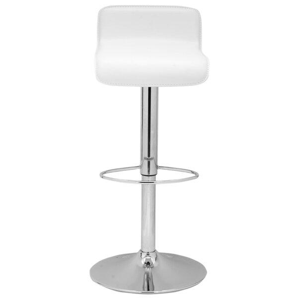 Sepviva Adjustable Height Swivel Bar Stool by Wrought Studio
