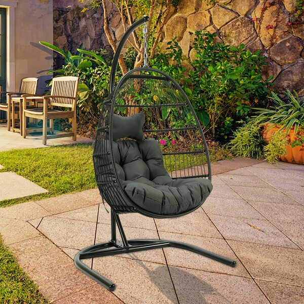 Cerna Swing Chair with Stand by Bay Isle Home