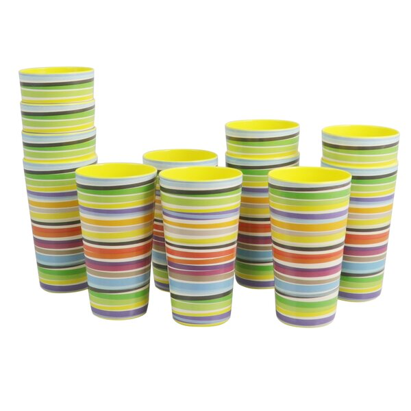 Lorelei 20 oz. Color Plastic Every Day Glass (Set of 12) by Latitude Run