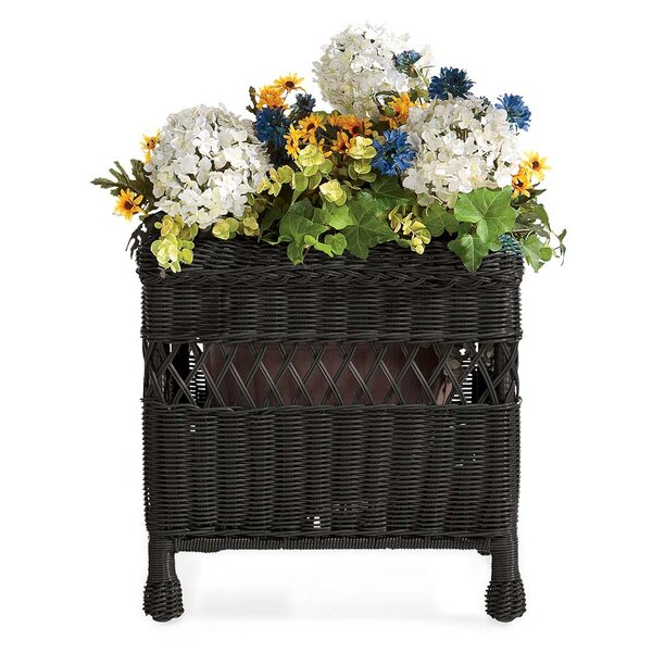 Easy Care Resin Wicker Square Pot Planter by Plow & Hearth