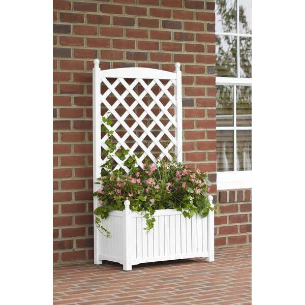 Lexington Wood Planter Box with Trellis by DMC