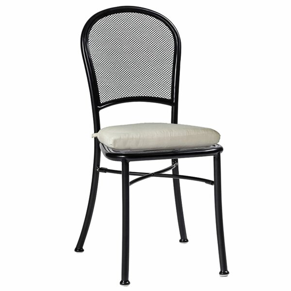Cafe Stacking Patio Dining Chair with Cushion by Summer Classics