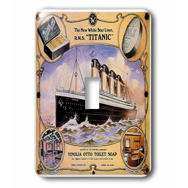 Star Line Titanic Vinolia Otto Toilet Soap Advertising Poster 1-Gang Toggle Light Switch Wall Plate by 3dRose