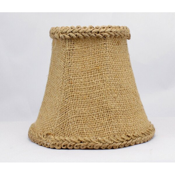 5 Burlap Bell Candelabra Shade with Trim by Bay Isle Home